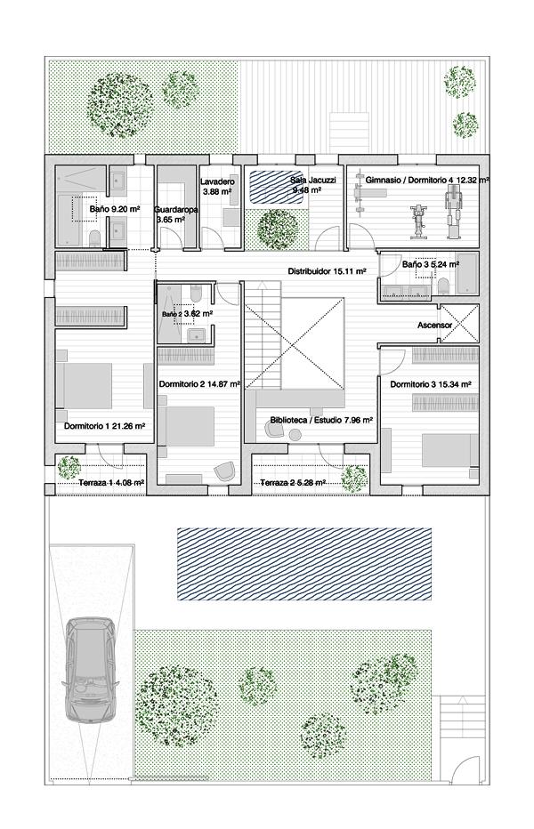 Baños Con Vestidor Incluido:Garaje con aseo y gimnasio/salón de invierno